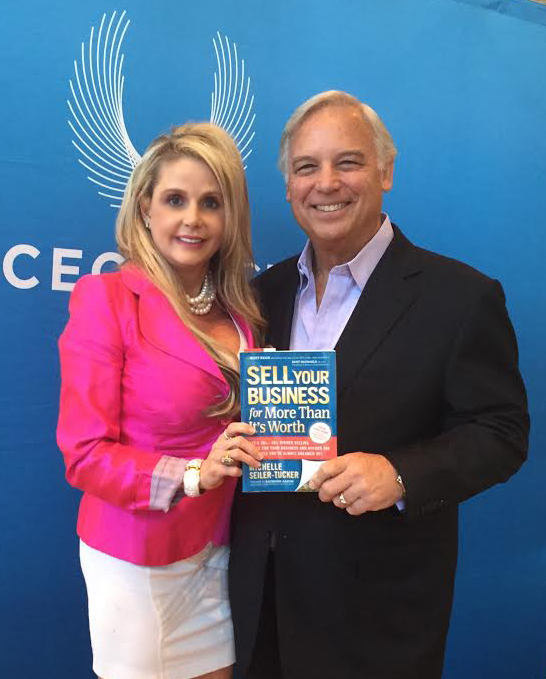 Michelle Seiler-Tucker with Jack Canfield, world-renowned business mogul, as well as the international bestselling author of the hit book series,