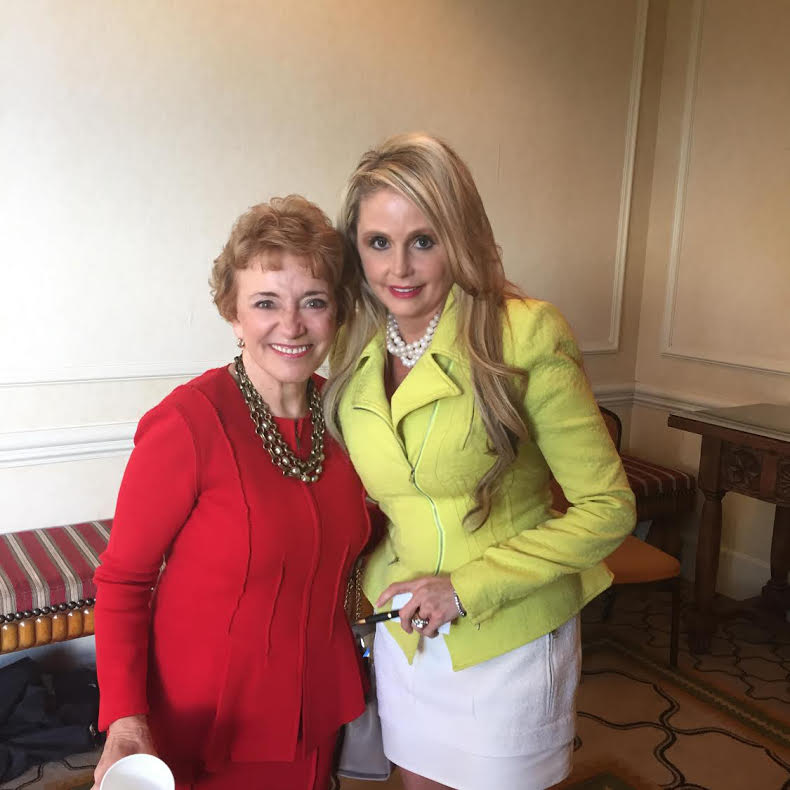 Michelle Seiler-Tucker with Mary Morrissey, world-renowned life coach, motivational speaker, spiritual author, and Founder of Life Mastery Institute