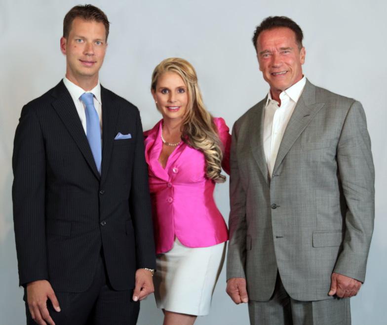 Michelle, Arnold Schwarzenegger, & JT Foxx